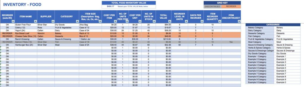 Stock Inventory Excel Format Free Download and Excel Inventory Tracking Template