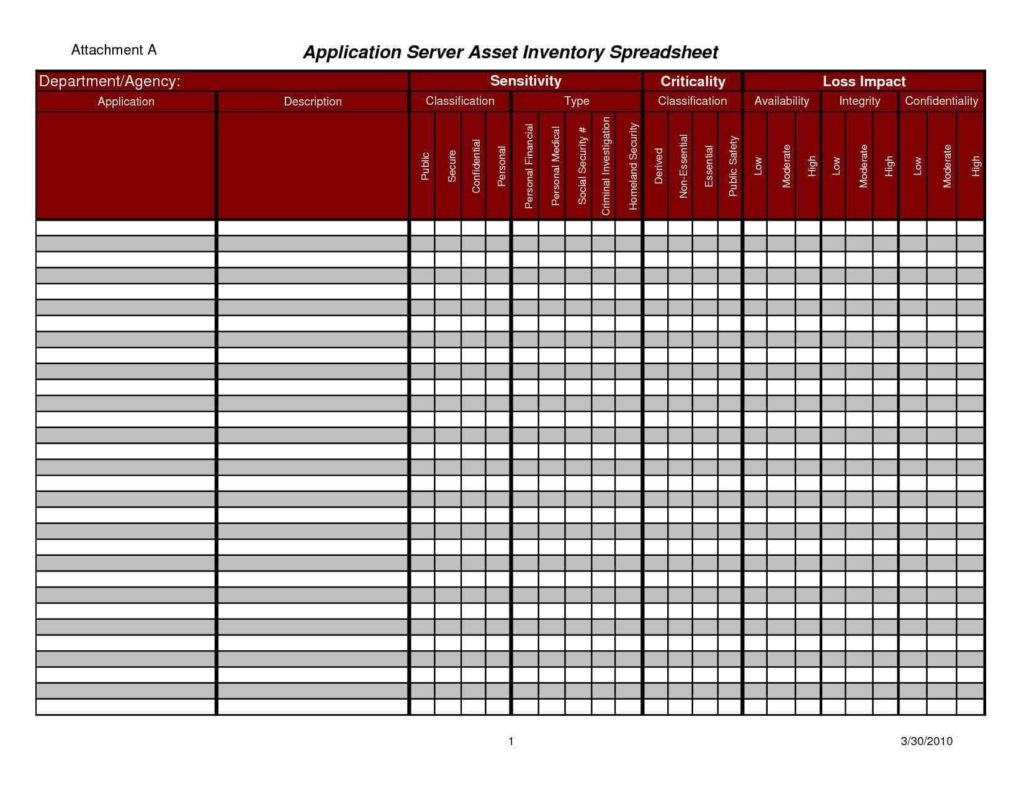 Asset Tracking Spreadsheet And Asset Tracking Spreadsheet Template