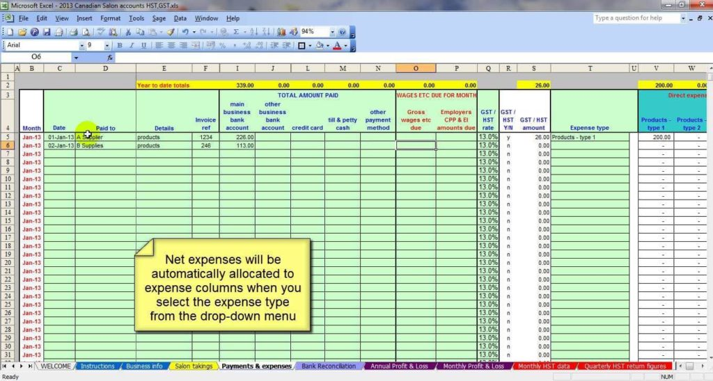 Free Simple Accounting Spreadsheet Small Business And Free Business Accounting Spreadsheets
