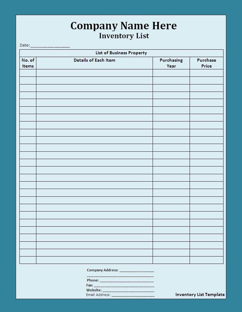 Free Stock Inventory Software Excel And Small Business Inventory Sheet Template