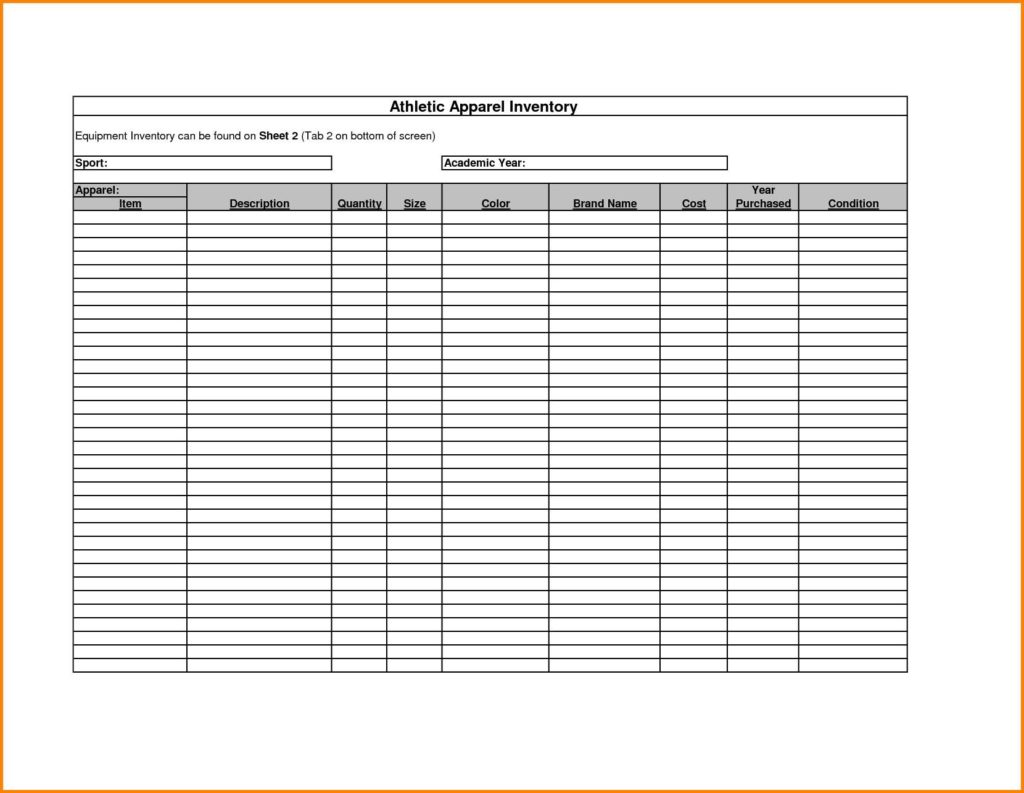 How To Make Stock Inventory In Excel And Inventory Spreadsheet For Small Business