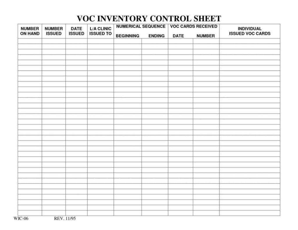 Bar Stock Control Template And Bar Inventory Spreadsheet Download