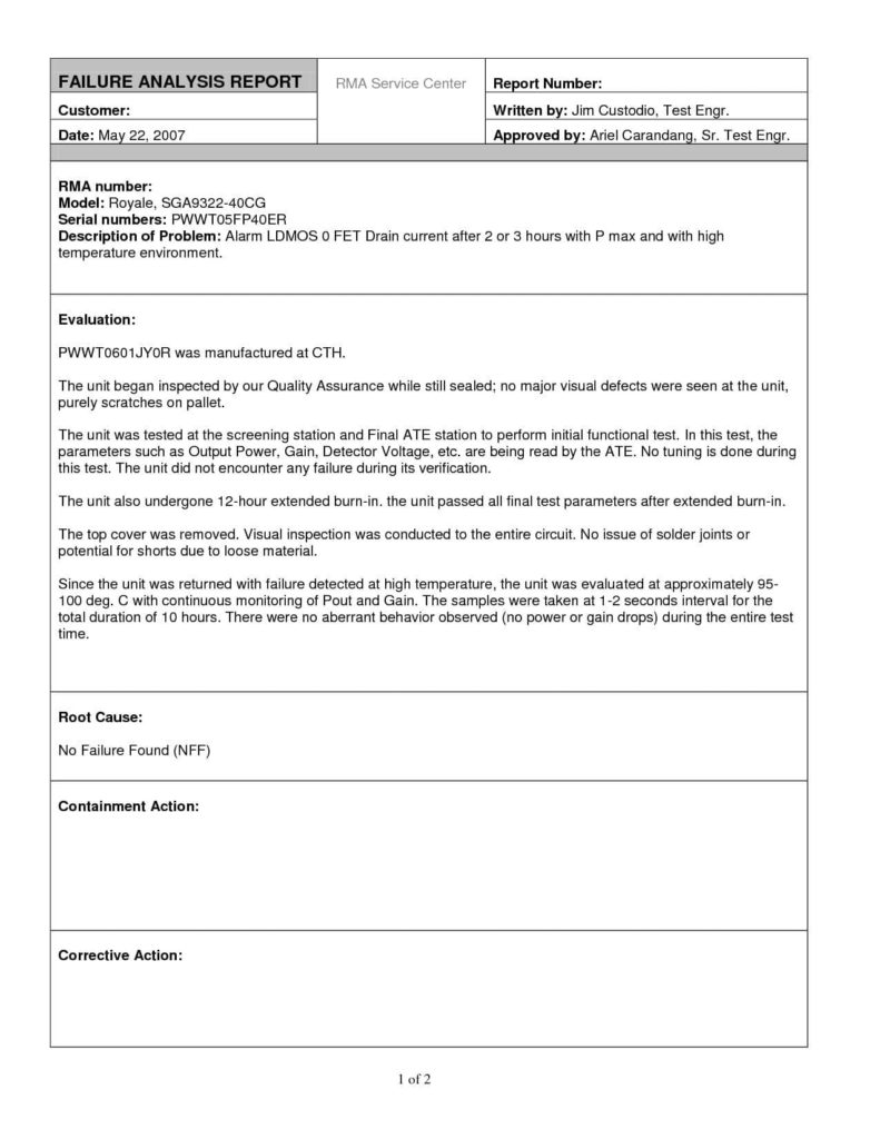 Business Analysis Report Sample Pdf And Sample Of A Business Analysis Report