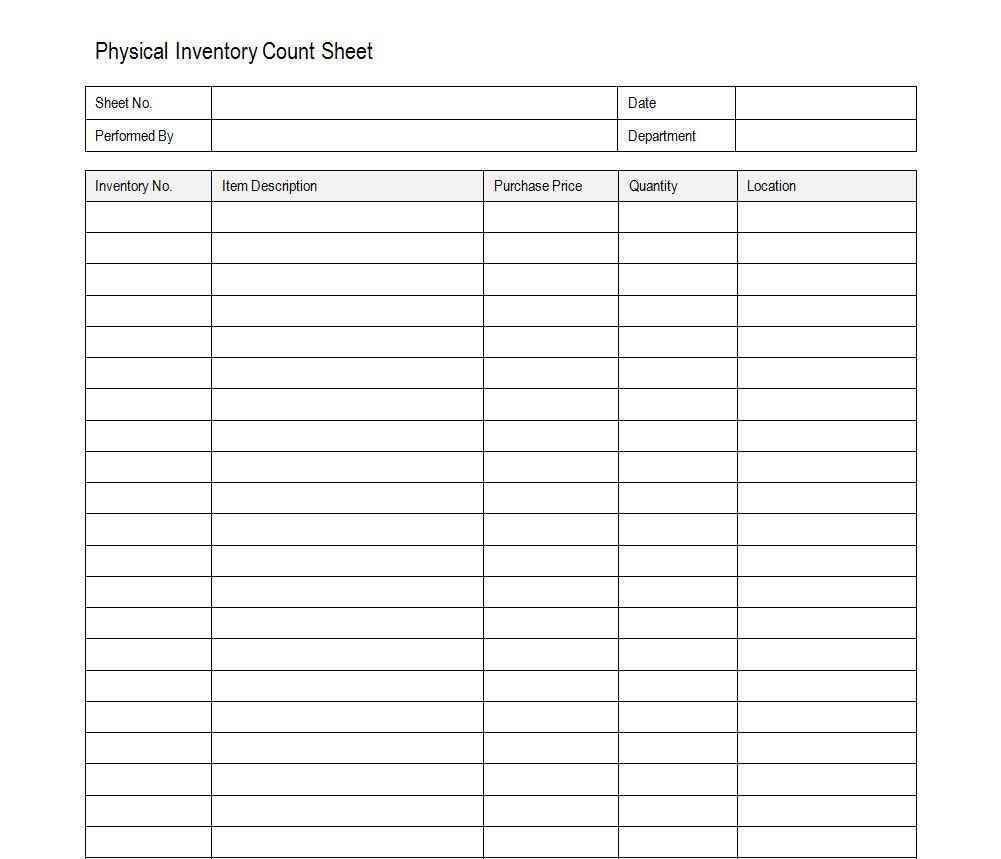 Excel Inventory Spreadsheet Free Download And Example Of An Inventory Sheet