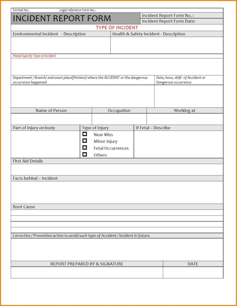 Samples Of Incident Reports And Sample Incident Report Tagalog Version