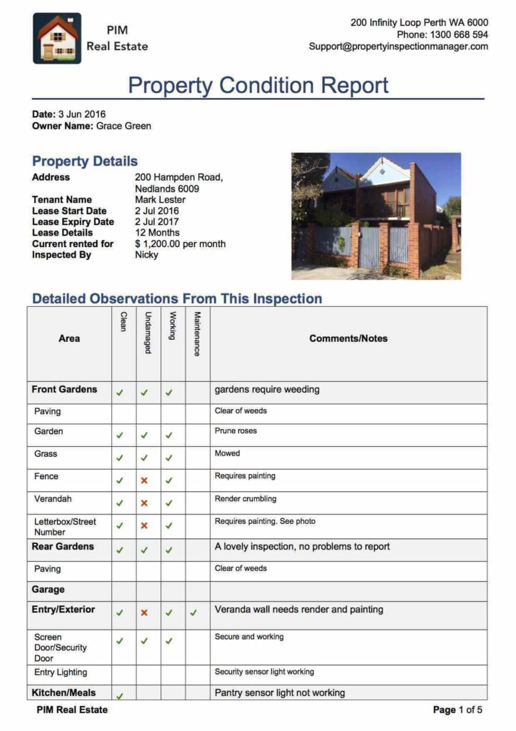 Termite Inspection Report California And Sample Pest Control Inspection Report