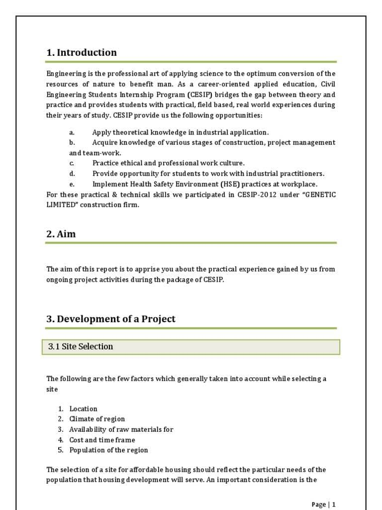 Training Report On Building Construction Pdf And Building Construction Project Report Format