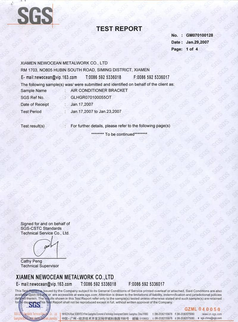 Air Conditioning Report Format And Technical Service Report Format