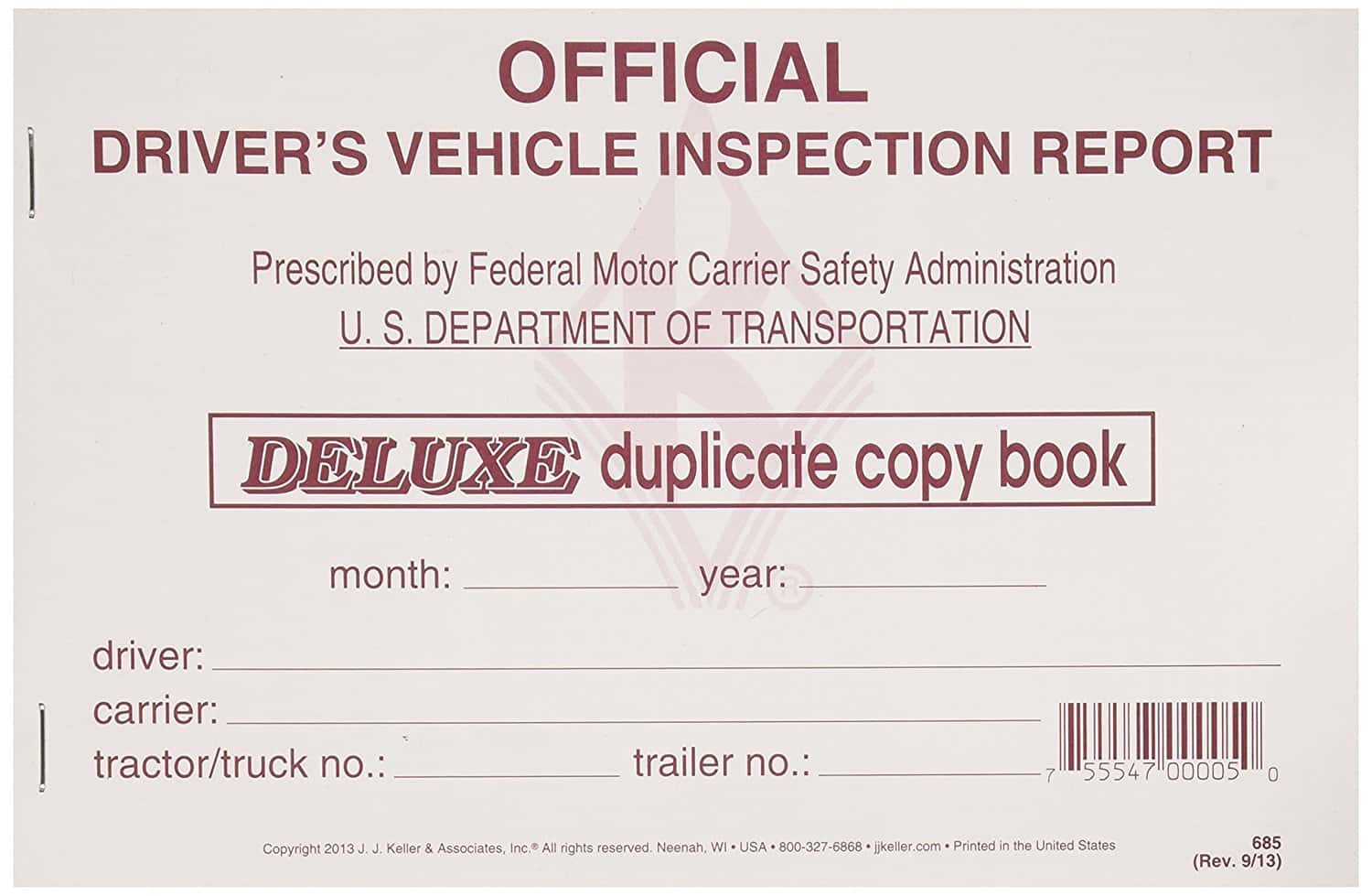 Dot Driver Vehicle Inspection Report Form And Dot Daily Vehicle Inspection Form