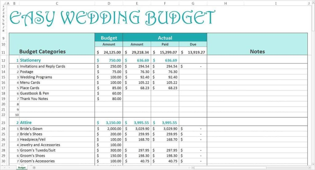 Sample Budget Excel Sheet And Samples Of Budget Spreadsheets