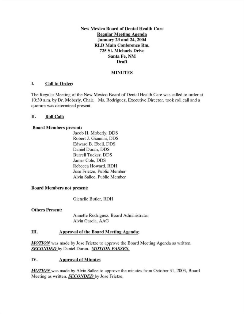 Board Meeting Report Template And Sample Executive Director Report Format