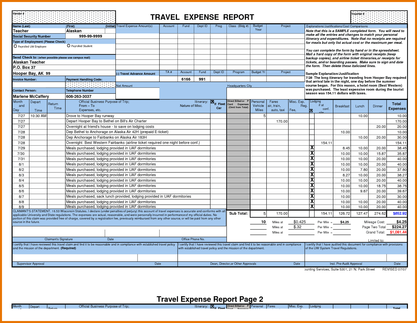 Excel Expense Report Template Free Download And Income Expense Report Template