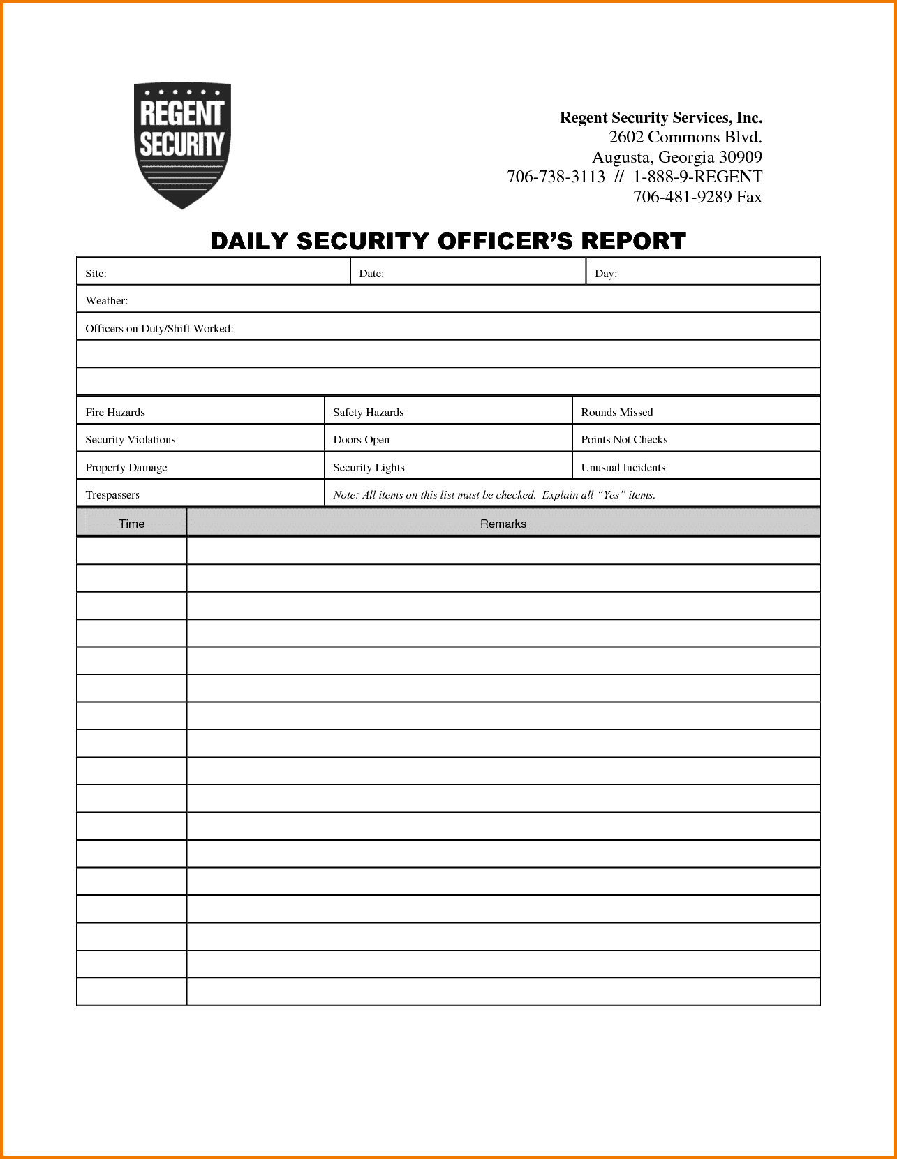 Physical Security Incident Report Template And Physical Security Incident Report