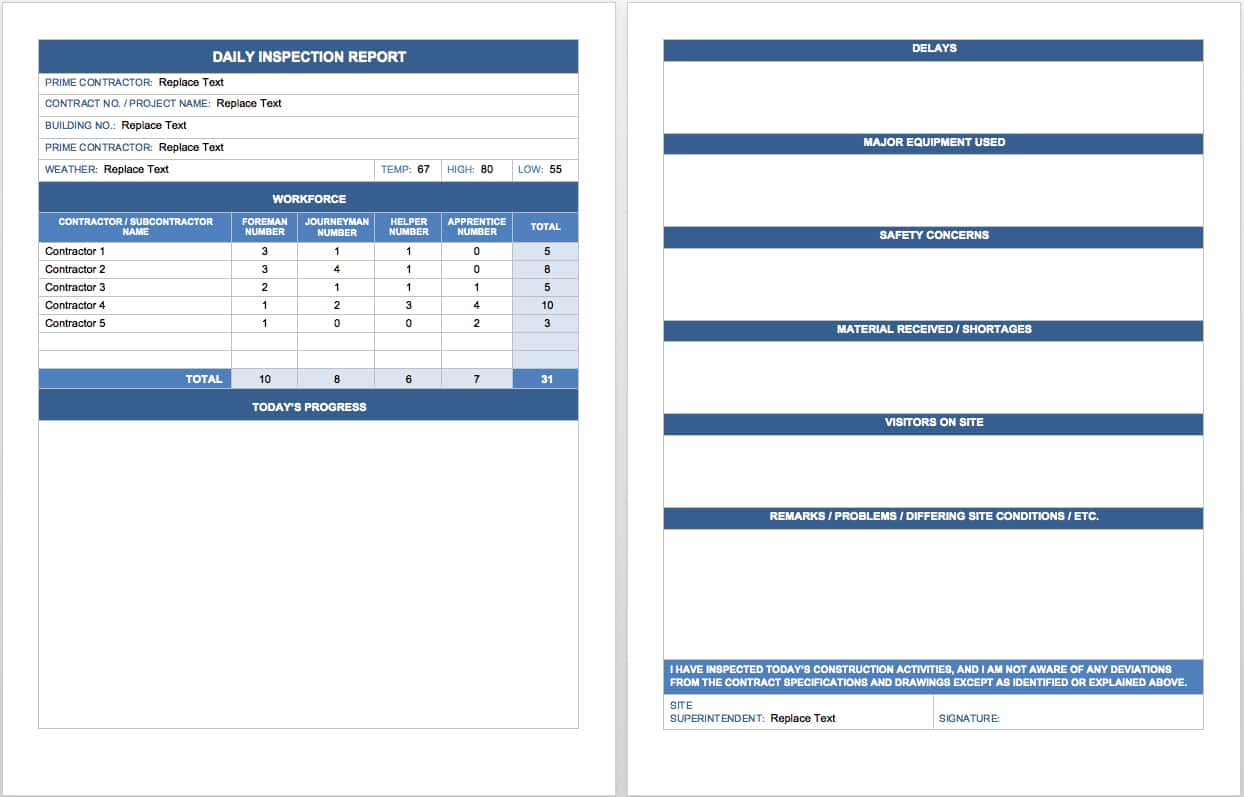 Daily Sales Call Report Template In Excel And Sales Call Report Form Template