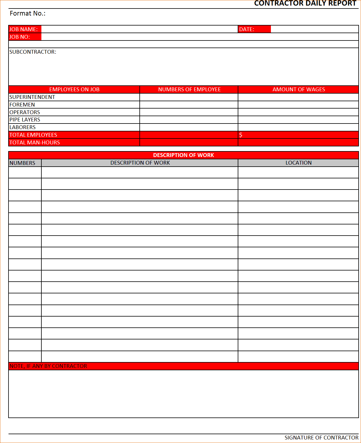 Sales Call Report Template Excel And Daily Sales Call Report Sample