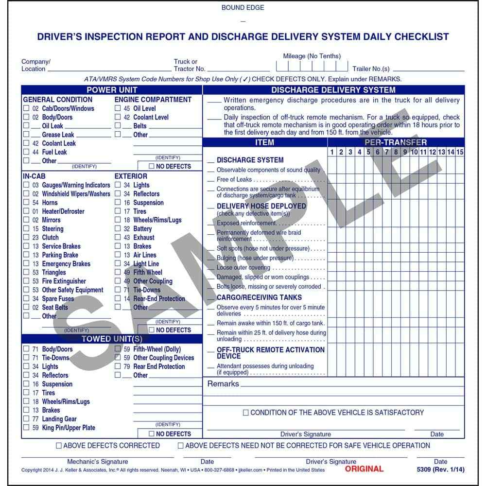 Vehicle Inspection Report Template Download And Printable Vehicle Inspection Report