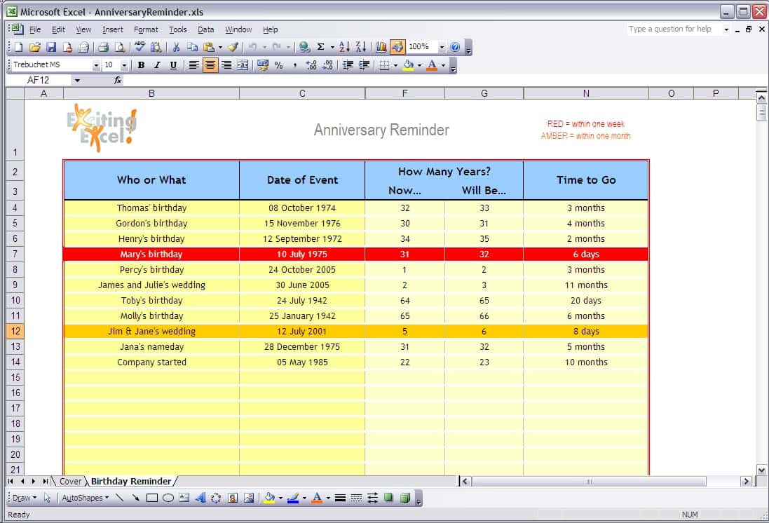 Example Of An Excel Spreadsheet With Formulas And Example Of A Spreadsheet In Excel