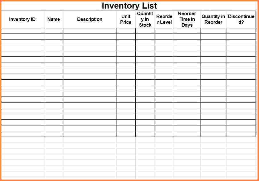 Example Of Inventory Using Excel And Examples Of Inventory Control Spreadsheet