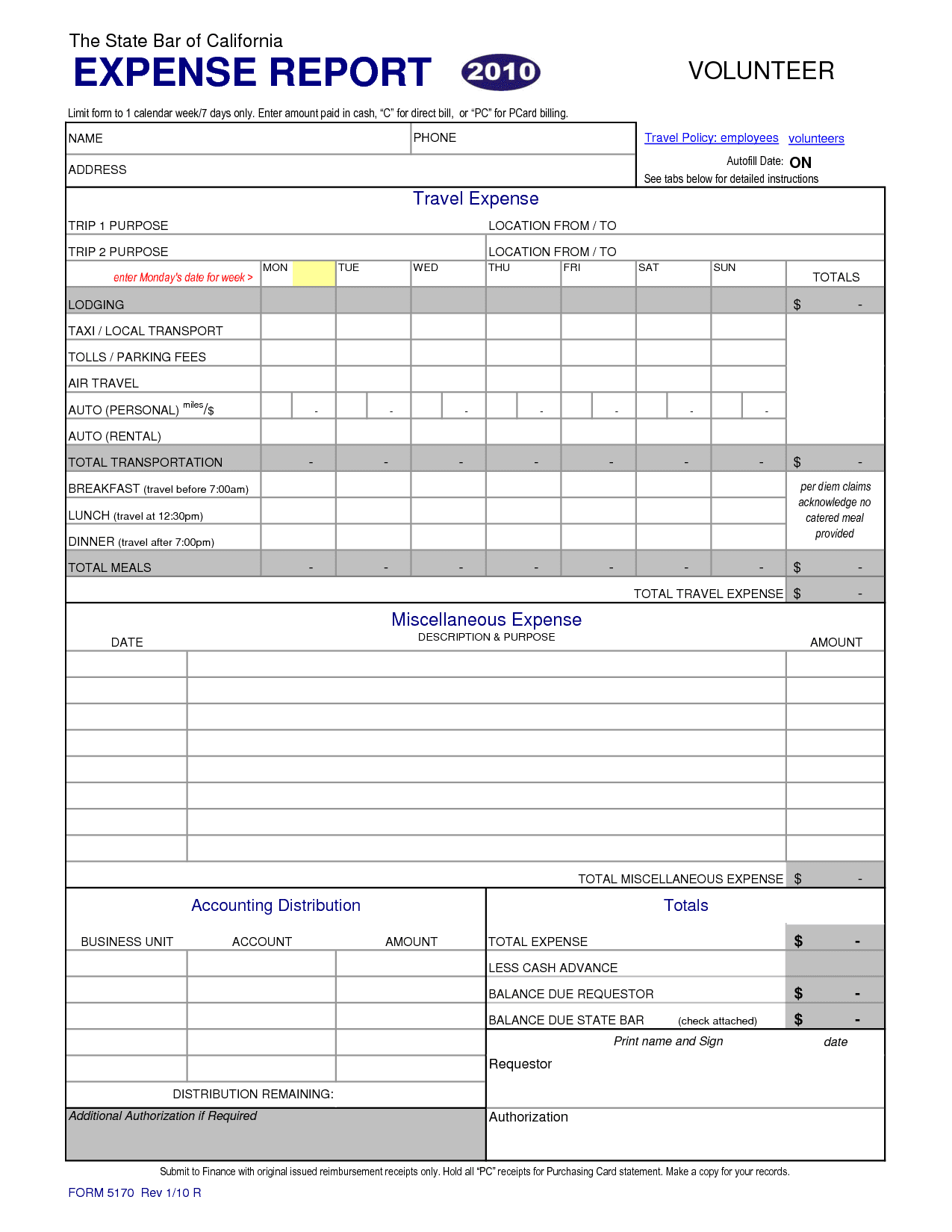Expense Report Template Excel 2010 And Travel And Business Expense Report