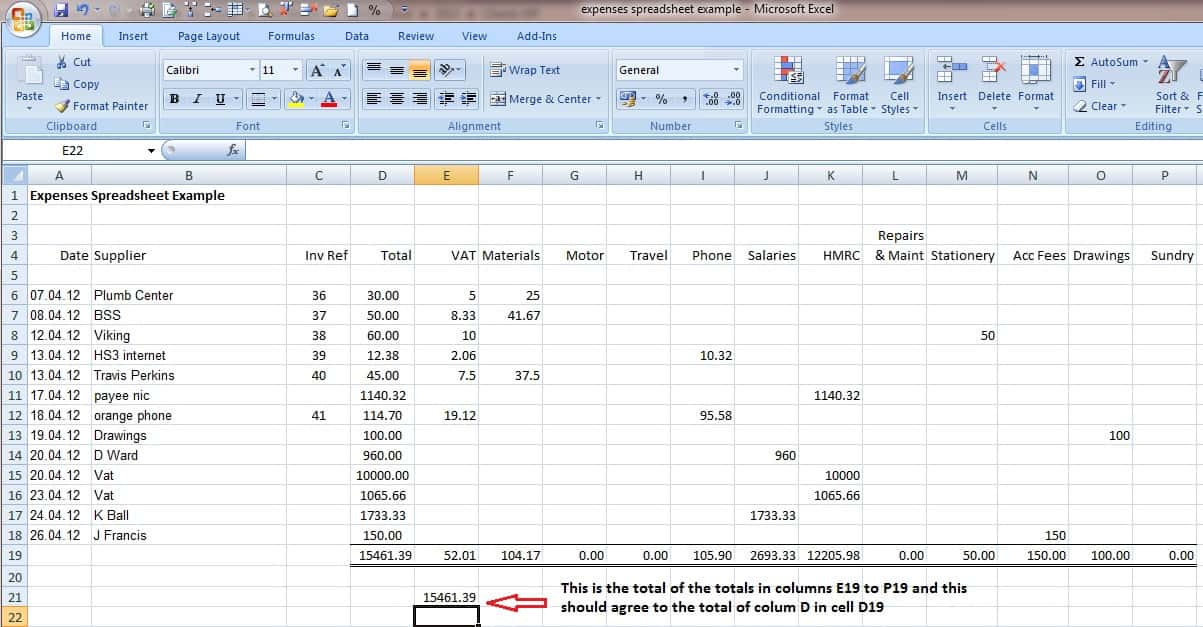Small Business Spreadsheet For Income And Expenses And Business Expense Spreadsheet Example
