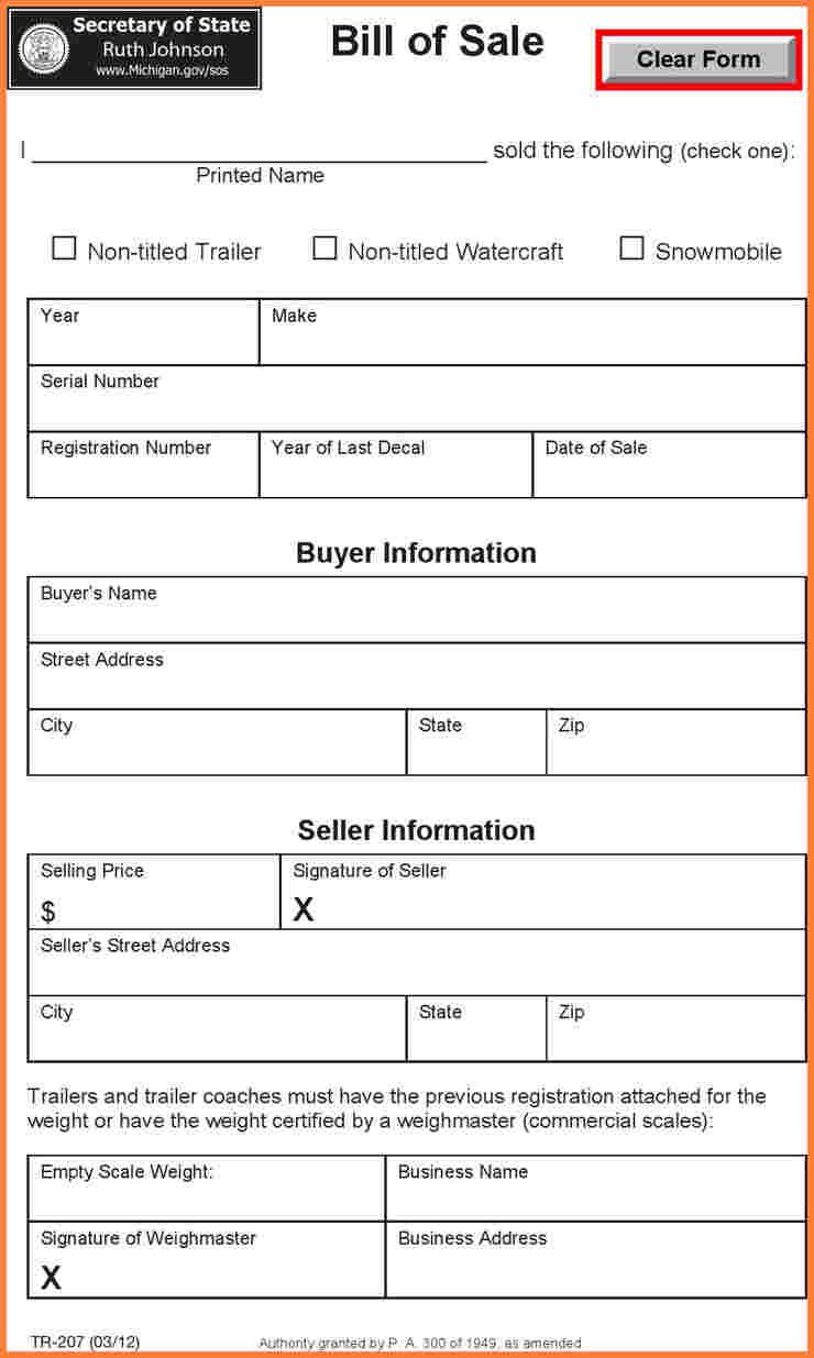 Automobile Bill Of Sale Template Maine And Dmv Commercial Vehicle
