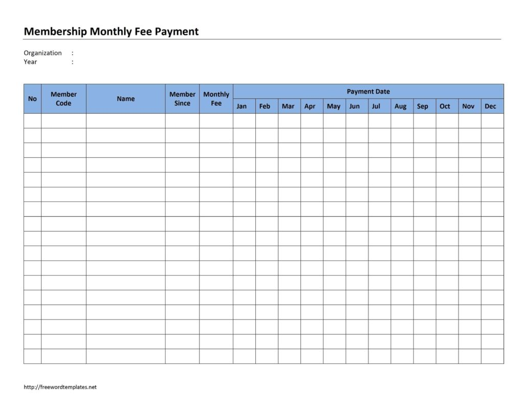Bi Weekly Bill Payment Schedule Template And Payment Schedule Template Word