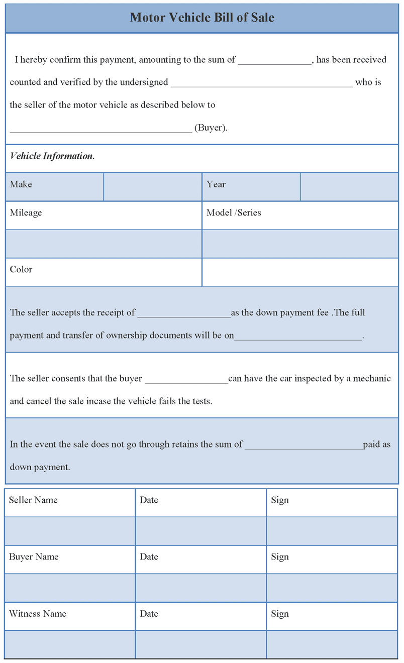 Bill Of Sale Form Oklahoma Vehicle And Vehicle Bill Of Sale Template South Carolina
