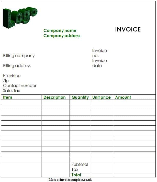 Blank Invoice And Online Invoice Software