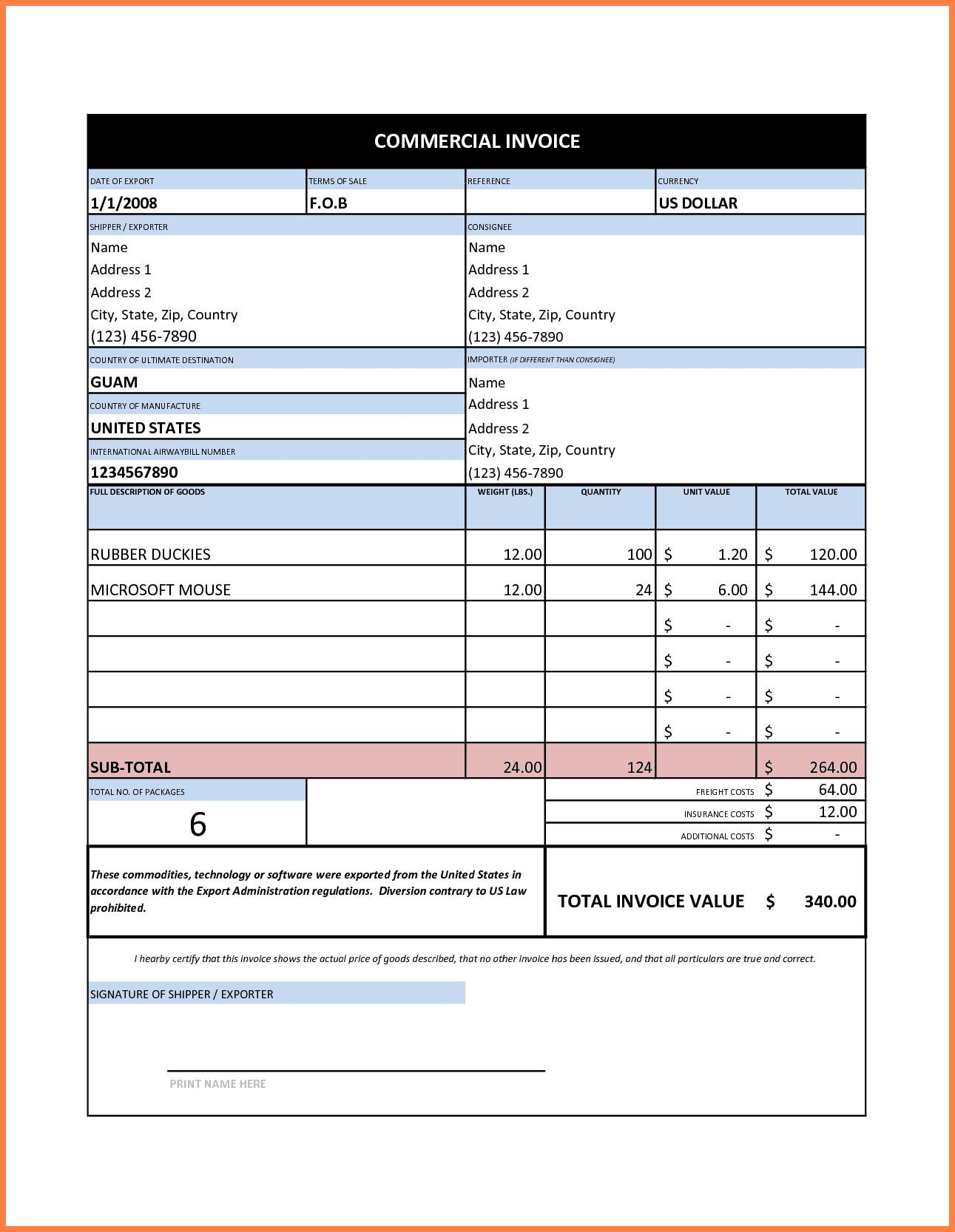 Company Invoice Template Word And Invoice Template Excel Quebec