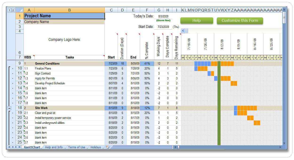 Construction Management Spreadsheet And Free Excel Project Management Tracking Templates