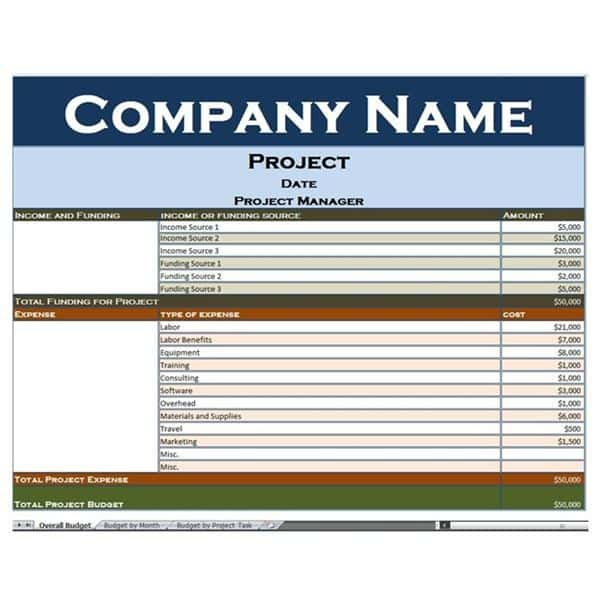 Contractor Project Management Excel Template And Free Excel Construction Templates