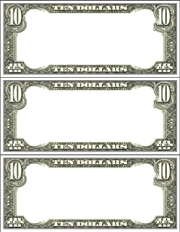 Design A Dollar Bill Template And Free Dollar Bill Templates