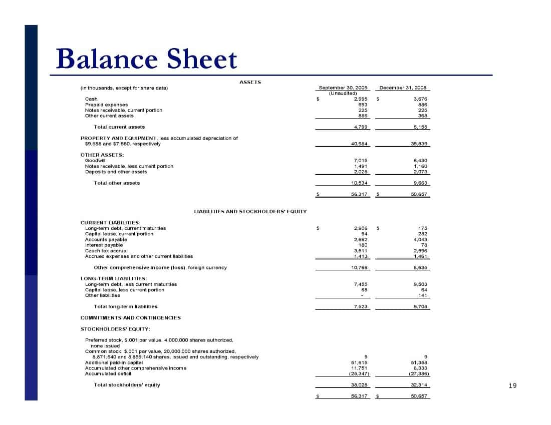 Example Of Profit And Loss Statement And Balance Sheet And Monthly Profit And Loss Template