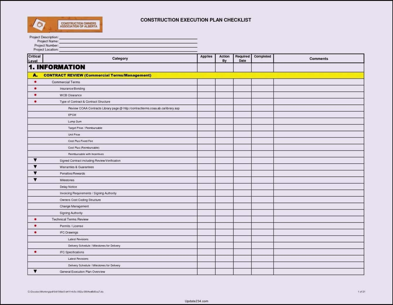 Excel Material Takeoff Template And Commercial Construction Schedule Template