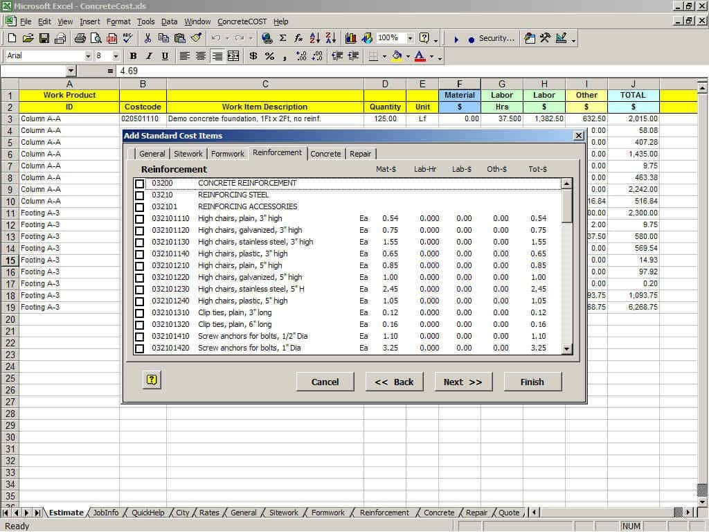 Free Construction Estimate Template And Building Estimation And Costing Excel Sheet