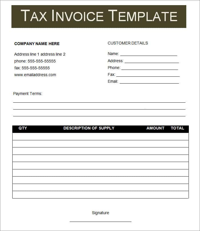 Free Invoice Template Excel And Online Invoicing For Small Business