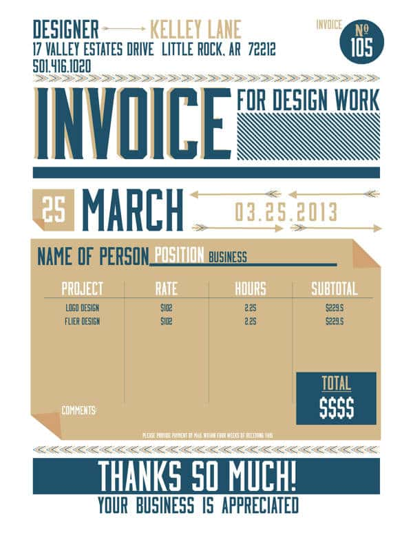 Invoice Template For Graphic Designer Freelance And Graphic Designer Invoice Template
