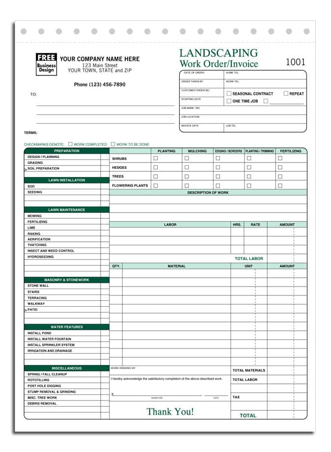 Lawn Maintenance Estimate Template And Free Lawn Care Bid Template