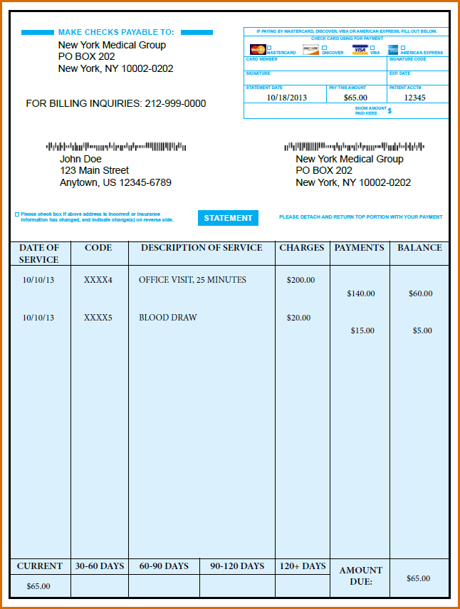 Locum Doctor Invoice Template And Free Doctor Office Receipt Template