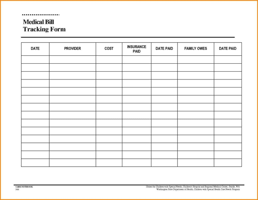 Monthly Expenses Spreadsheet Template Free And Fillable Monthly Bill Payment Worksheet