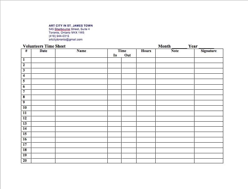 Sample Time Sheets To Print And Sample Time Sheets Monthly