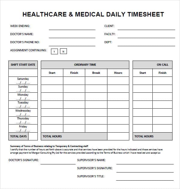 Sample Timesheets For Construction And Sample Time Study Sheets