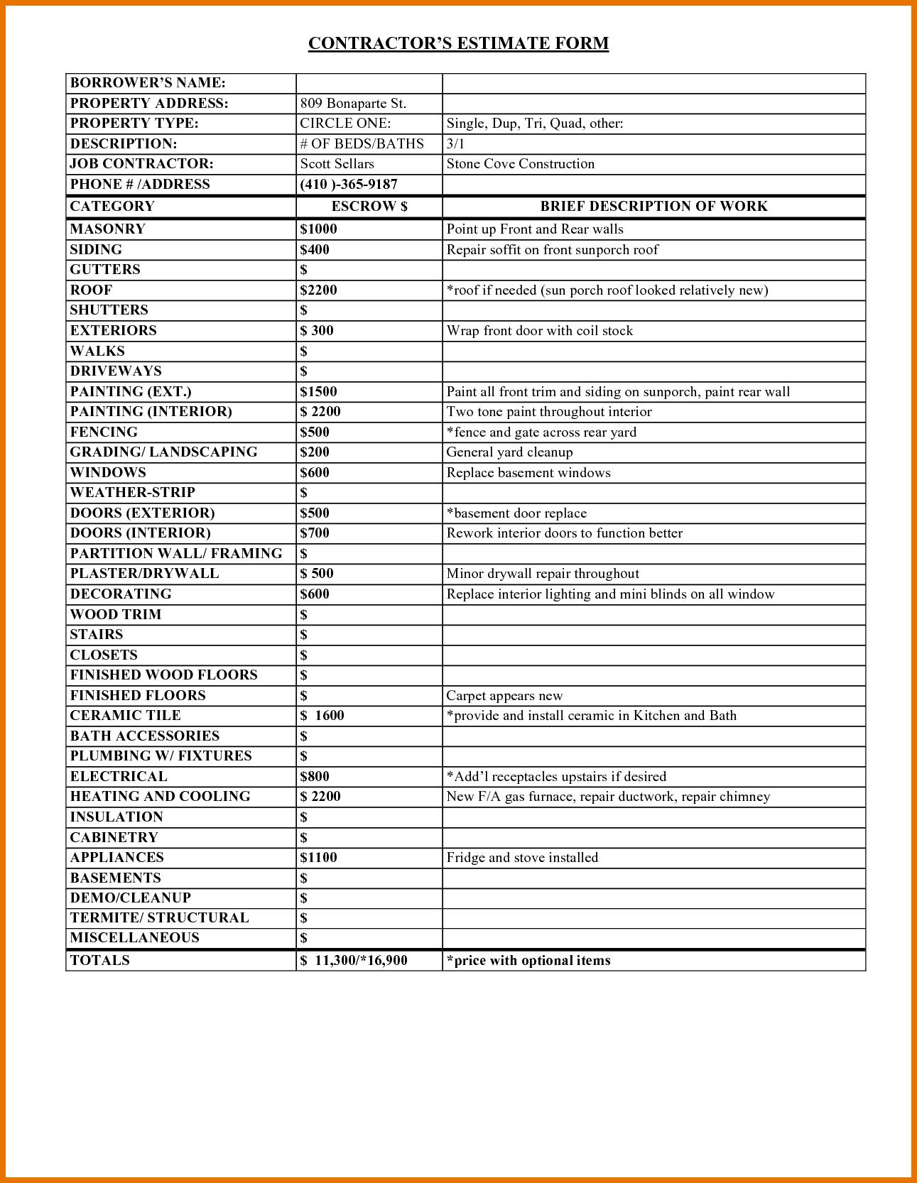 Siding Cost Estimator And Vinyl Siding Calculator Spreadsheet