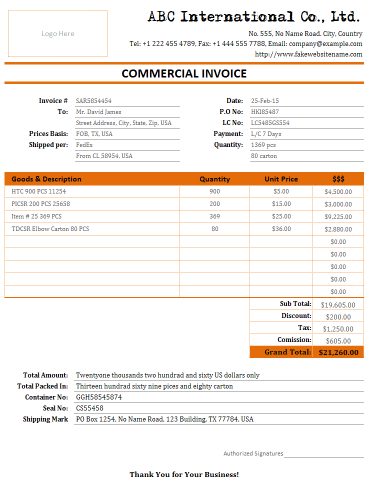 Trucking Company Invoice Sample And Freight Invoice Sample