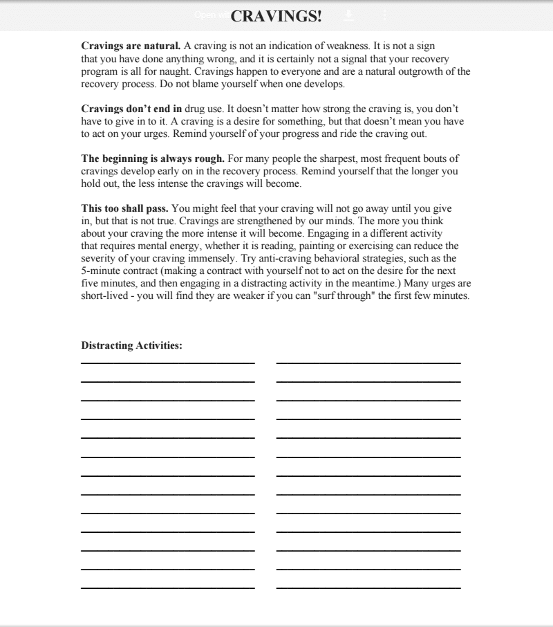 Worksheets For Substance Abuse Recovery And Cbt Worksheets For Substance Abuse