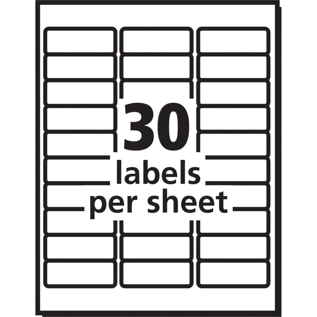 52 labels per sheet template