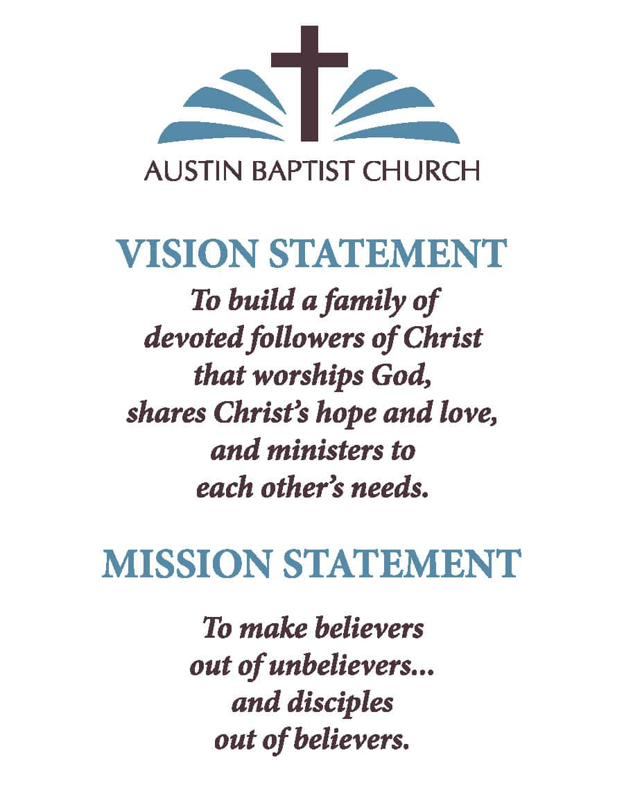 Baptist Church Mission Statements And Sunday School Purpose Statement