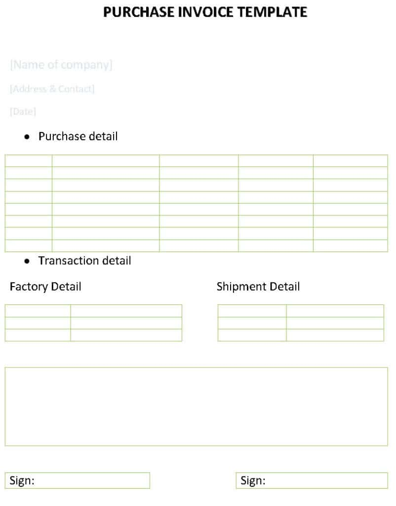 Downloadable Invoice Template Word And Free Downloadable Sales Invoice Templates