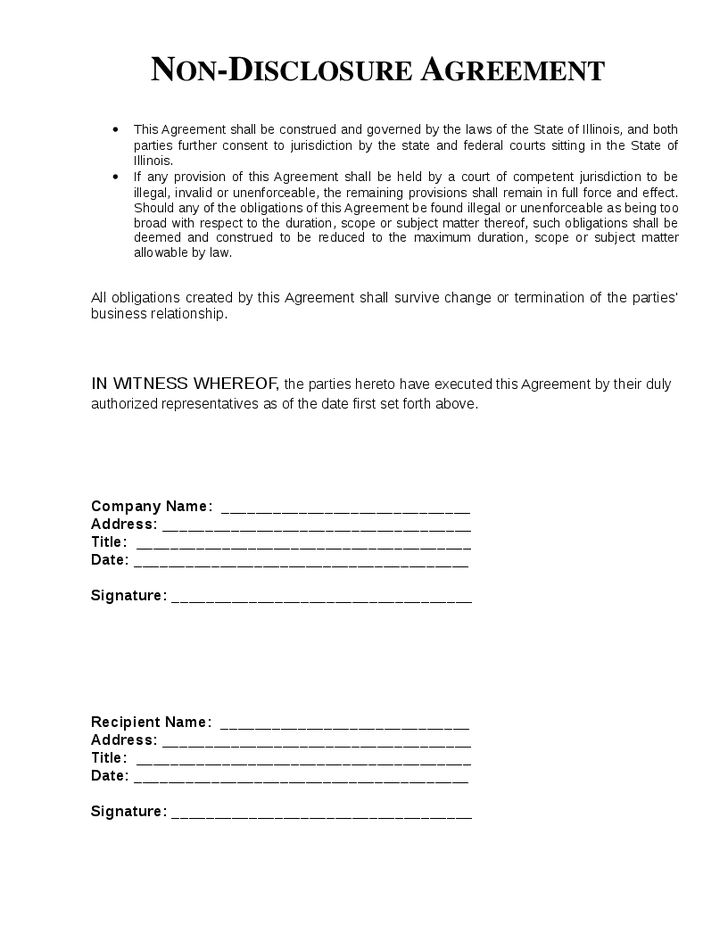 Employee Non Disclosure Agreement Template Uk And Non Disclosure Agreement Template Pdf