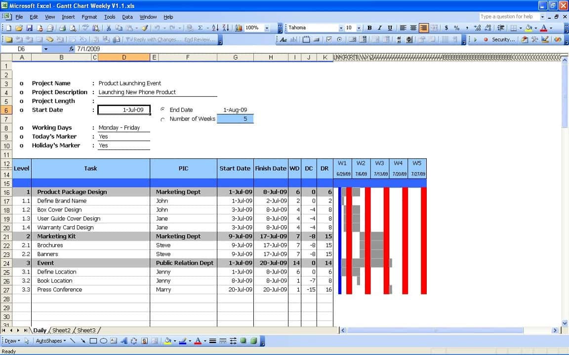 Excel Gantt Chart Template Free And Microsoft Excel Gantt Chart Template Free Download